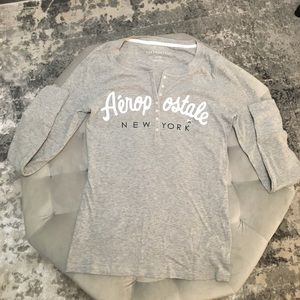 Aeropostale Tee with Sequin Embroidery